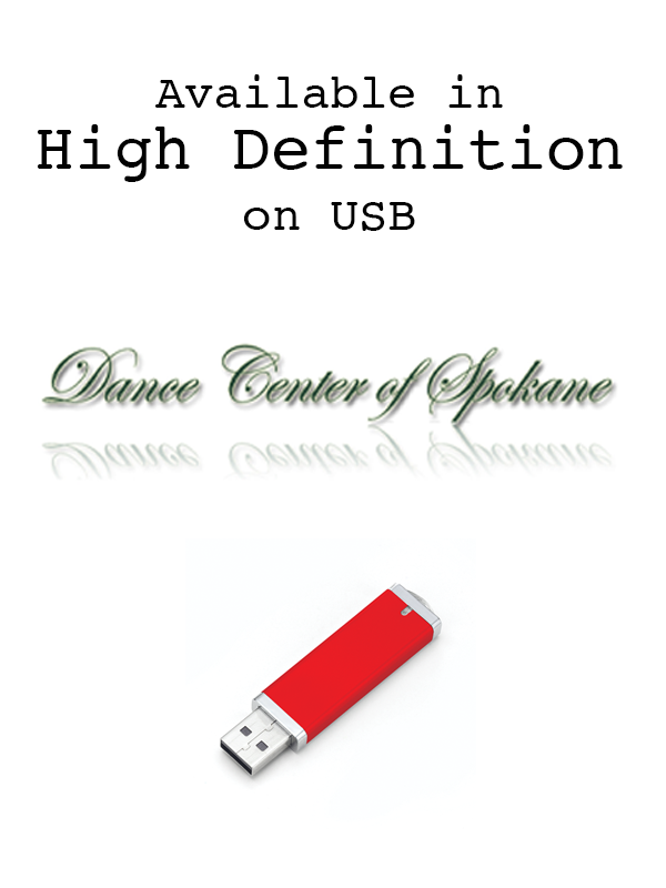 Dance Center of Spokane in High Definition on USB Drives